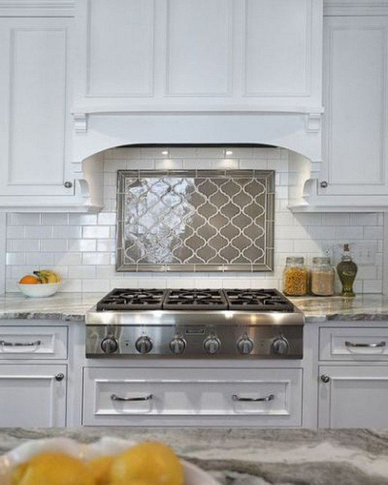 40 Beautiful White Kitchen Backsplash